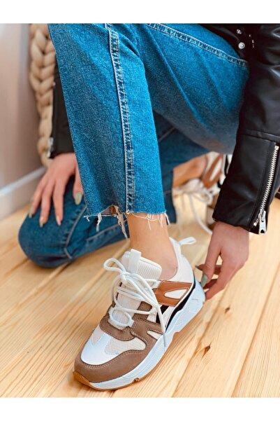 ERVANIN BUTİĞİ Kadın Füme Sneaker
