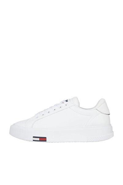 Tommy Hilfiger Kadın Beyaz Sneaker Tommy Jeans Fashıon Cupsole EN0EN01268