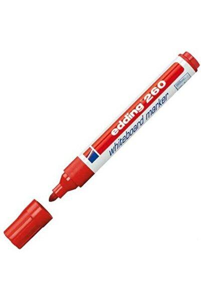 Edding 260 Yazı Tahtası Kalemi 10'lu Kırmızı
