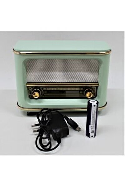 Nostaljik Radyo Yeşil Istanbul Model Şarjlı Pil+adaptörlü
