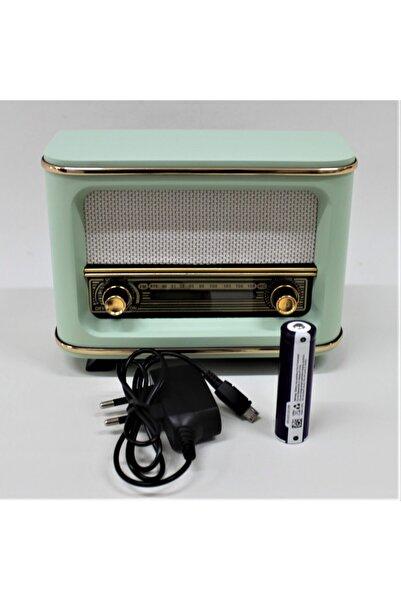 Otantik Çarşı Nostaljik Radyo Yeşil Istanbul Model Şarjlı Pil+adaptörlü