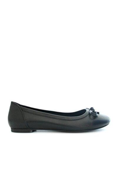 Beta Shoes Hakiki Deri Kadın Siyah Babet