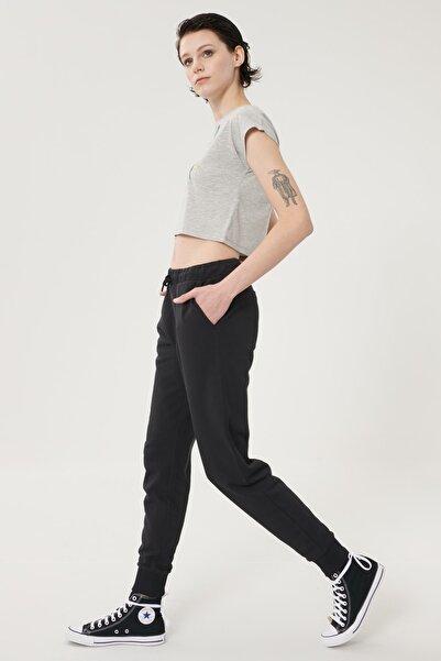 Lee Kadın Siyah Regular Fit %100 Pamuk Jogger Pantolon