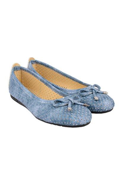 ODESA Kadın Kot Mavisi Günlük Babet Ayakkabı