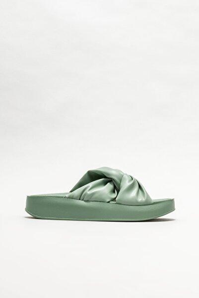 Elle Shoes Kadın Yeşil Dolgu Topuklu Terlik