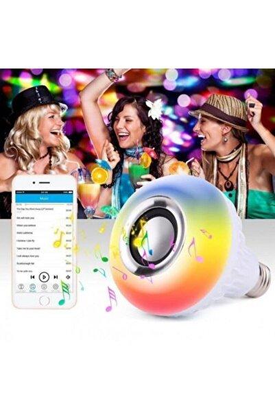 Taled Bluetooth Hoparlörlü Kumandalı Rgb Akıllı Led Ampul-16 Renk