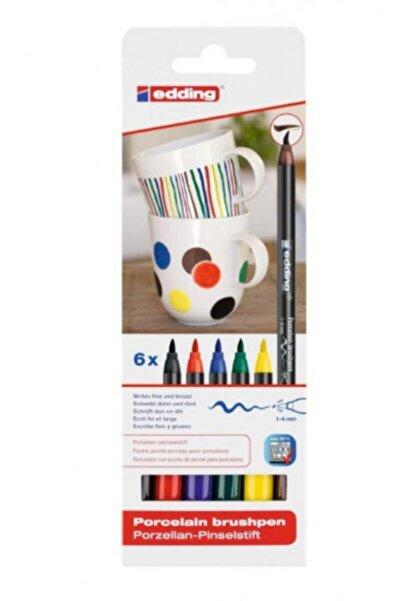 Edding Porselen Kalemi 6'lı Set Standart Renkler