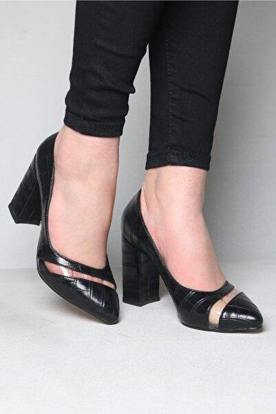 ramiye Kadın Şeffaf Detaylı Kalın Topuk Stiletto