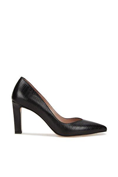 Network Kadın Siyah Deri Topuklu Ayakkabı 1079569