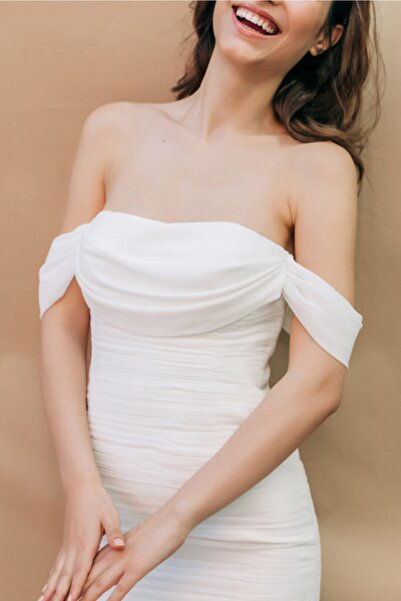 Hello Bride Venüs Nikah Elbisesi - Ipek Şifon Kumaş