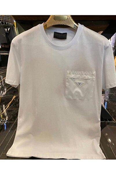 Prada Sport Erkek Beyaz T-shirt