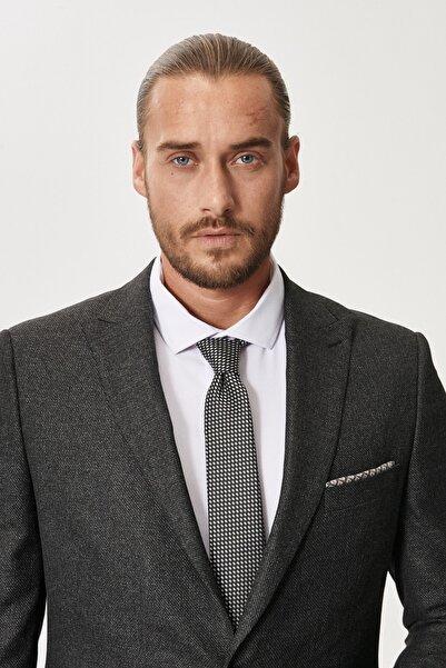 ALTINYILDIZ CLASSICS Erkek Antrasit Slim Fit Dar Kesim Su Geçirmez Nano Takım Elbise