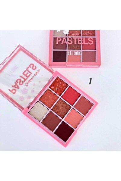 AİLY COSMETİCS S.f.r Color Pastels  Far Paleti 9'lu  No: 01