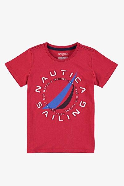 Nautica Erkek Çocuk Kırmızı Baskılı T-Shırt VB15404T