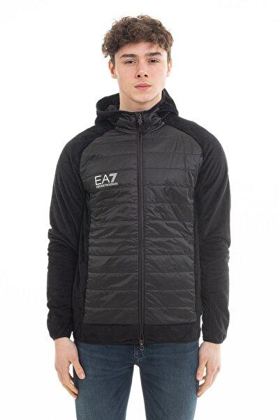 EA7 Erkek Siyah Fermuarlı Ceket