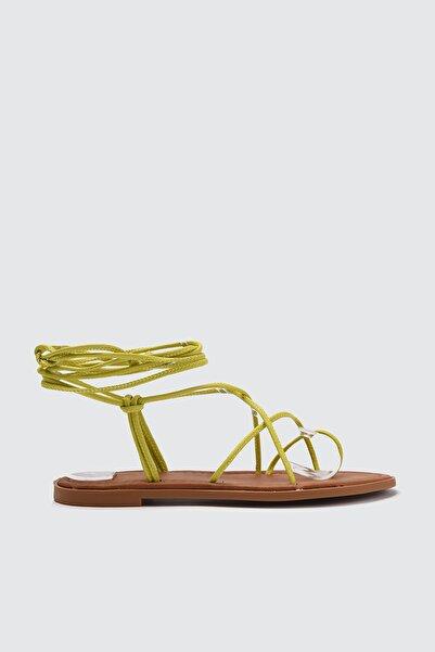 TRENDYOLMİLLA Yeşil Kadın Sandalet TAKSS21SD0027