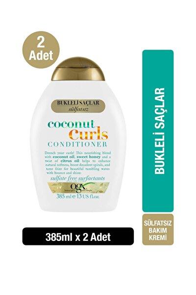 OGX Bukleli Saçlar için Nemlendirici Coconut Curls Sülfatsız Bakım Kremi 385 ml x2