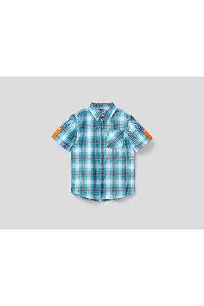 United Colors of Benetton Erkek Çocuk Tek Cepli Ekose Gömlek