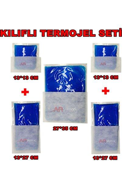 ARWEX Kılıflı Termojel Seti Tüm Boylardan Termojel Seti Sıcak Soğuk Termo Jel Kompres Buz Jel Termojel