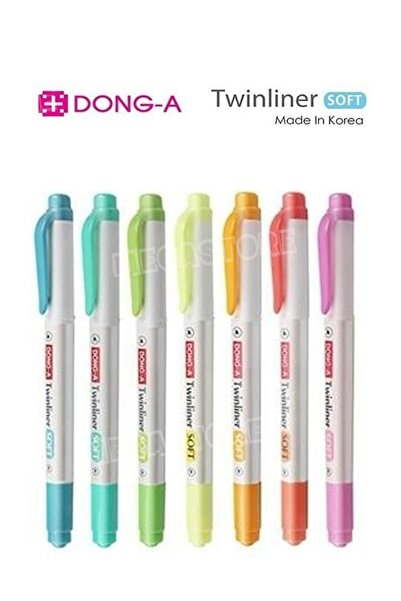 Dong-A 7 Renk Twinliner Megastore Set - Işaretleme Ve Keçeli Kalem