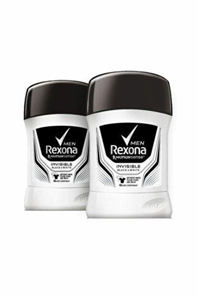 Rexona Erkek Deodorant Stick Invisible Black White 50 ml X2