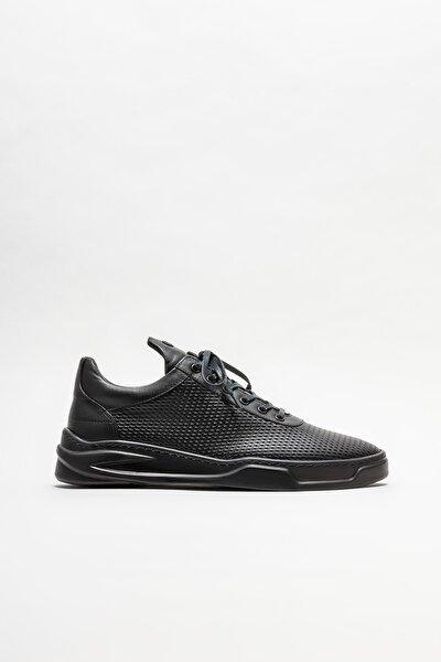 Elle Shoes Erkek Siyah Deri Günlük Ayakkabı