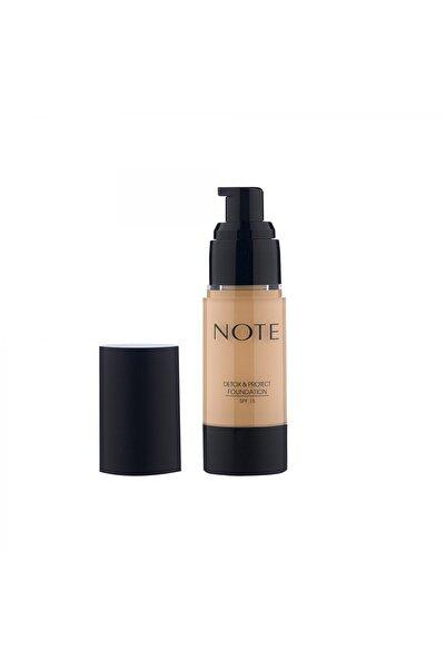NOTE Detox & Protect Fondöten Canlandırıcı Etki 03 Medium Beige