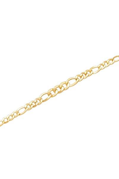 Diamond Line-Gülaylar Sarı Altın 14 Ayar Erkek Bileklik