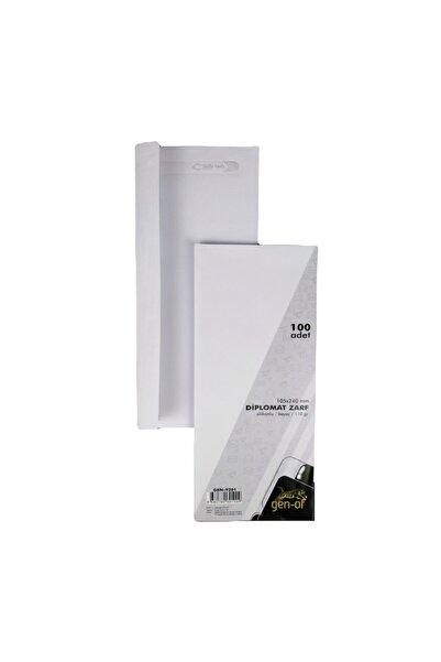 Gen-Of Beyaz Silikonlu Penceresiz Diplomat Zarf 105x240 mm 110 gr 100'lü