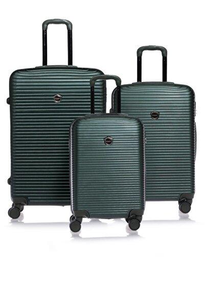 Fossil Fsvz1248-set Yeşil Unısex 3'lü Set Bavul