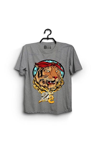 Sekiz.com 2pac Tiger Tasarımlı Erkek Grimelanj T-Shirt