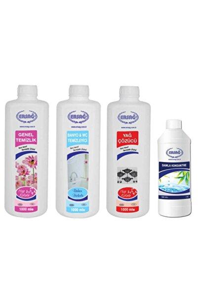 Ersağ Genel Temizlik + Banyo & Wc Temizleyici + Yağ Çöz + Damla Konsantre