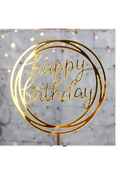 Pozitif Deco Happy Birthday Doğum Günü Pleksi Pasta Süsü