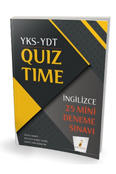 Pelikan Kitabevi Yks Ydt Ingilizce Quiz Time 25 Mini Deneme