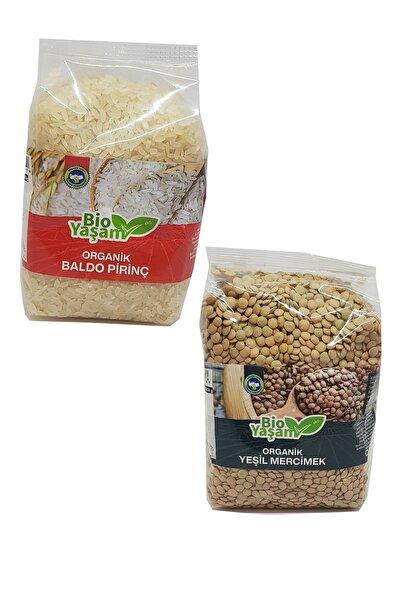 Bio Yaşam Organik Baldo Pirinç 500 Gr + Organik Yeşil Mercimek 500 Gr
