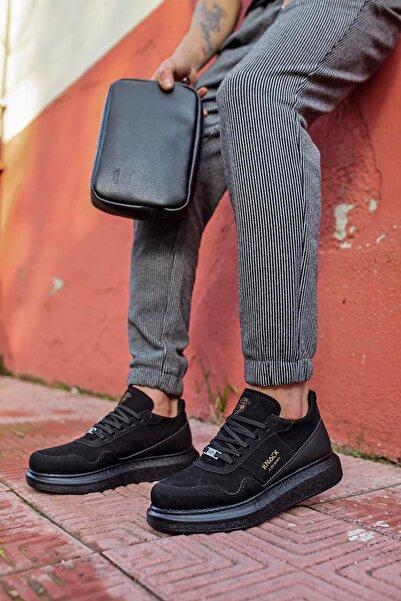 Stepsup Store Erkek Siyah Süet Günlük Sneakers