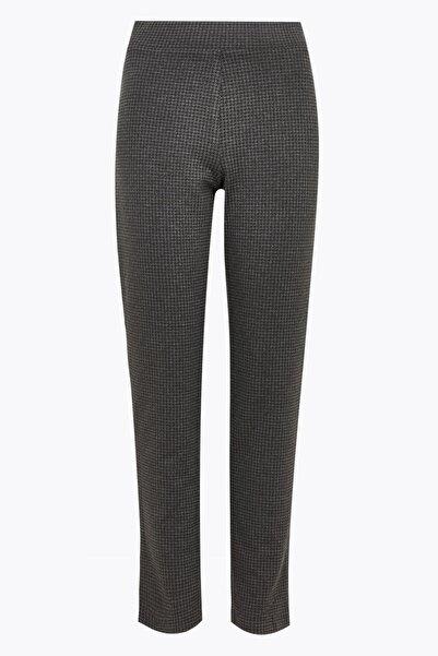 Marks & Spencer Kadın Gri Jarse Slim Fit Pantolon