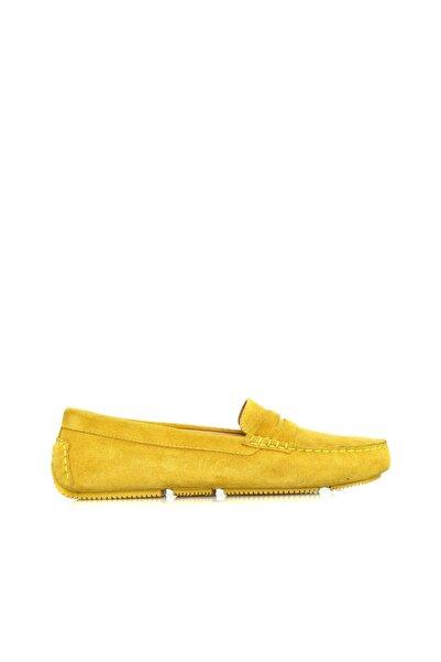 Dıvarese Kadın Sarı Loafer Ayakkabı