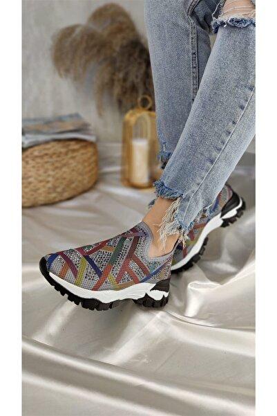 Markopark Veronıca Kadın Spor Ayakkabı Renkli Gri