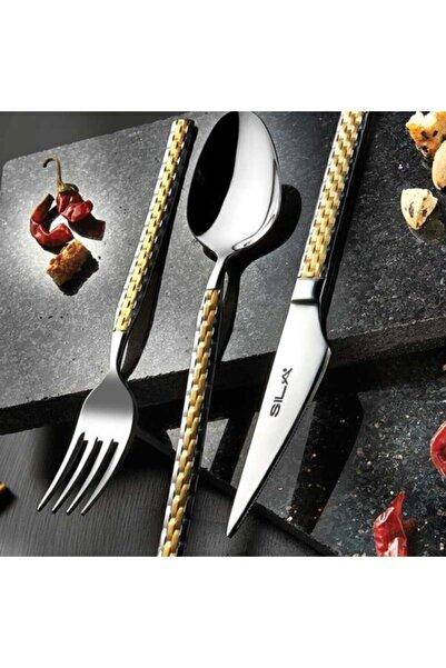 SILA Kutulu Hasır Gold Çatal Kaşık Bıçak Çeyiz Seti 72 Parça