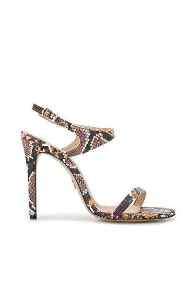 Dıvarese Kadın Yılan Desenli Topuk Ayakkabı
