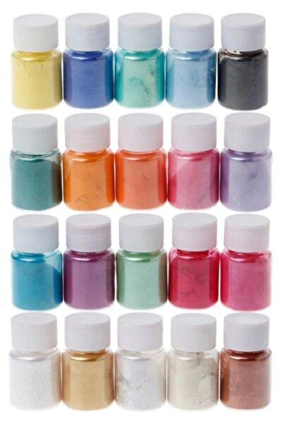Brtr Sedefli Epoksi Metalik Toz Pigment Seti 10gr x 20 Renk