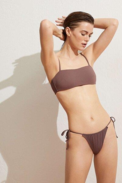 Oysho Fiyonklu Straplez Bikini Üstü