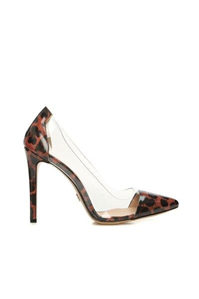 Dıvarese Kadın Leopar Desenli Deri Ayakkabı