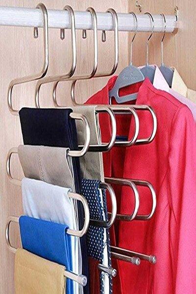 Lilya Home Metal Pantolon Eşarp Askısı 5 Katlı