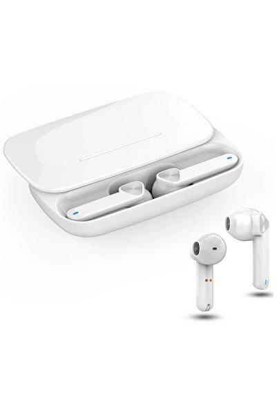 Escom Samsung Galaxy A7, A8, A9 Uyumlu Bluetooh Kulaklık Beyaz Tws Hd Ses Kalitesi
