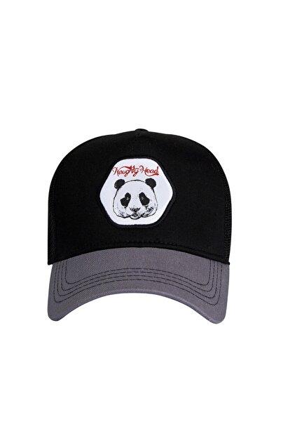 Bad Bear Panda Cap Night Siyah Kep