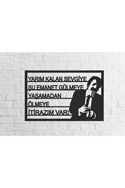 RetroLazer Müslüm Gürses Silüetli Mdf Tablo Evinize Ofisinize Yeni Tarz Wall