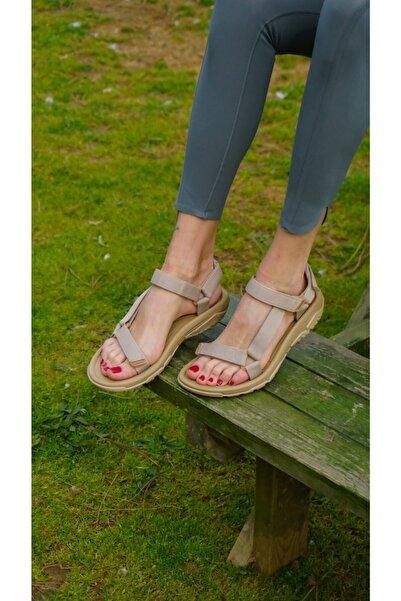 ANGELO SCARPE Kadın Vizon Bantlı Sandalet