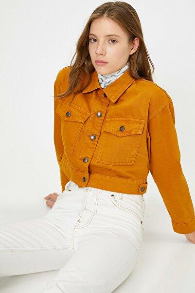 Koton Kadın Cep Detaylı Jean Ceket